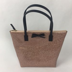 NWT Kate Spade Bag Sparkle Rose Gold Tote